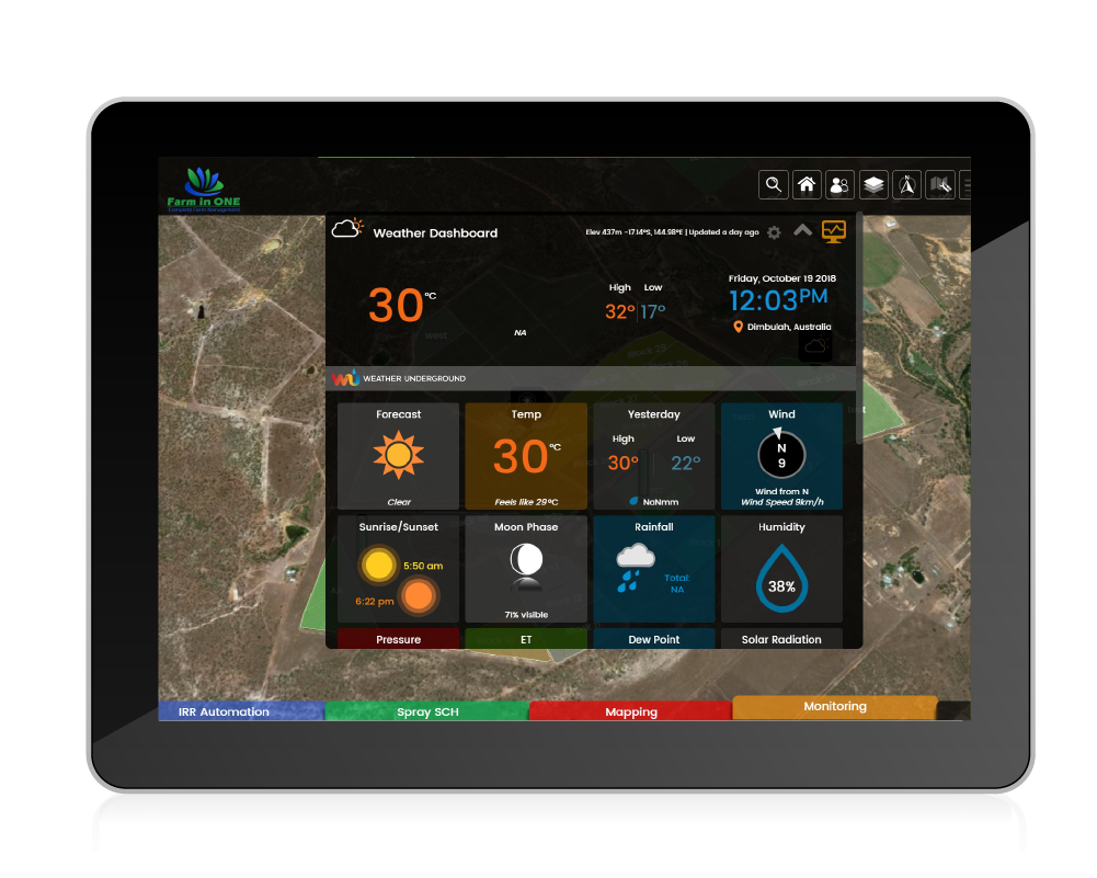 Farm weather dashboard