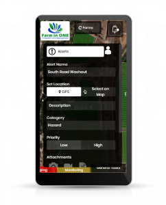 Farm in ONE Farm Management App Platform Task Manager alerts
