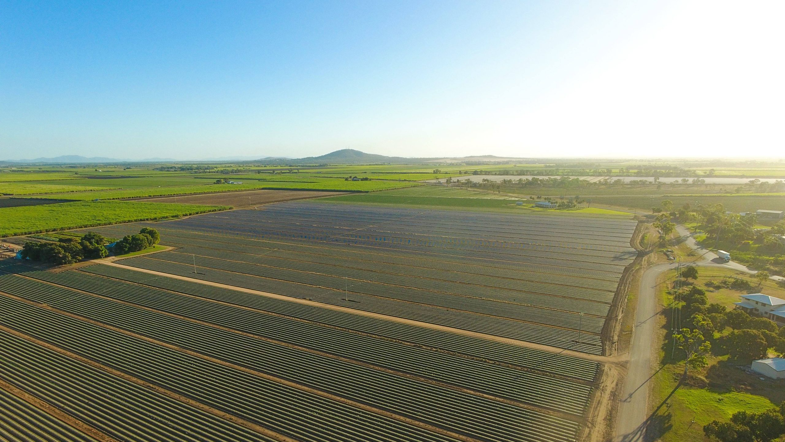 HTMC-Aerial Farming Landscape with Hills and Horizon